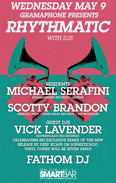 this weds @ the smart bar ..michael serafini, vick lavender and more!